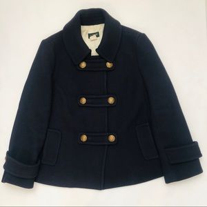 J Crew Stadium Cloth Winnie Military Peacoat
